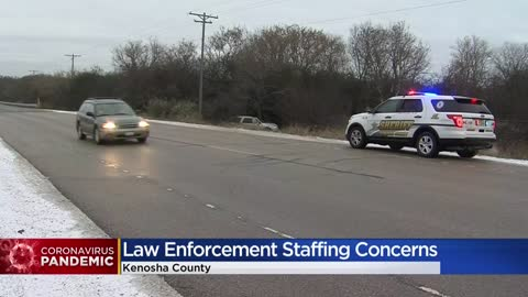Kenosha Co. Sheriff's Department staff preps for shift changes,...